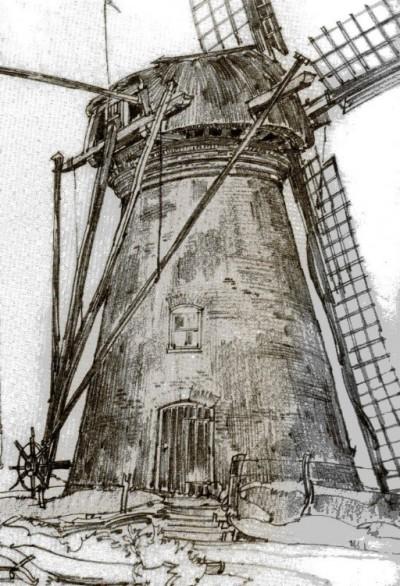 Molen van Reerink later Vennegoor en Brunninkhuis in Lattrop