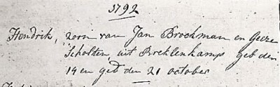 NG doopboek Ootmarsum Hendrik Brookman Breklenkamp 14-10-1792