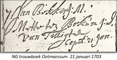 NG trouwboek Ootmarssum 21 januari 1703