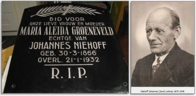 Grafsteen Maria Aleida Groeneveld en foto Jens Niehoff Lattrop