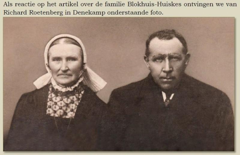 Zij kon ons inmiddels vertellen dat dit Jans en Sienke Huiskes-Meinders in Losser zijn.