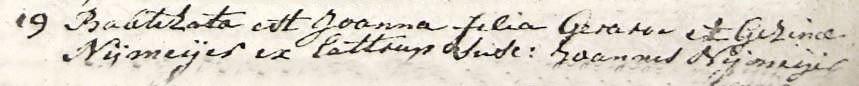 Nijmeijer Joanna dv Gerardus en Gezina Nijmeijer 19-03-1786