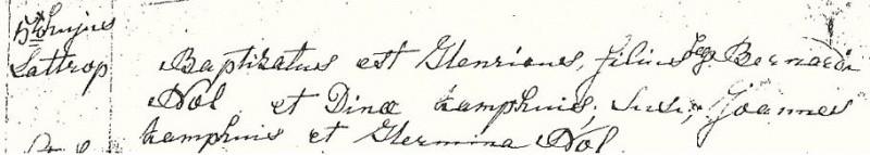 Inschrijving doopboek Lattrop van Henricus Nolte 5 october 1826