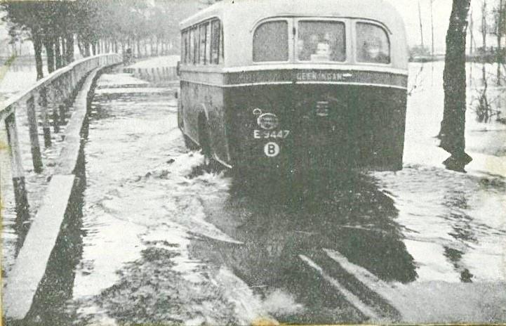 Oaverloat bij Tilligte (hoog water) 15-06-1935