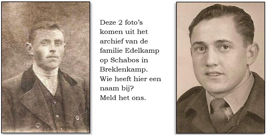 Onbekende foto's familie Edelkamp op Schabos in Breklenkamp