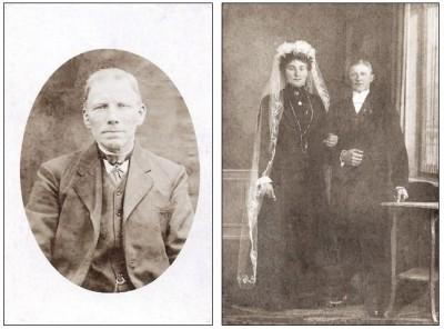 Onbekende foto's familie Muntel op Leferink in Lattrop