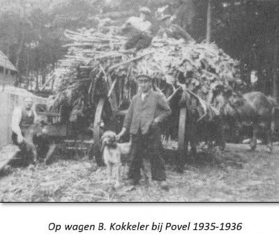 Op wagen B. Kokkeler bij Povel  1935-1936