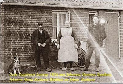 Oude Zegelvoort Lattrop 1934 met Johannes Henricus Damhuis, Johanna Maria Koehorst-Blokhuis en Johan Koehorst