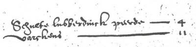 Paardengeld 1602 Schulte Lubberdinck Lattrop