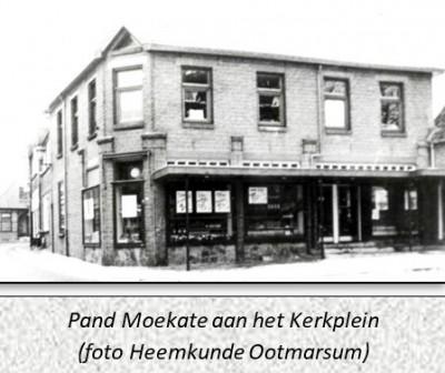 Pand Moekate aan het Kerkplein in Ootmarsum (foto Heemkunde Ootmarsum)