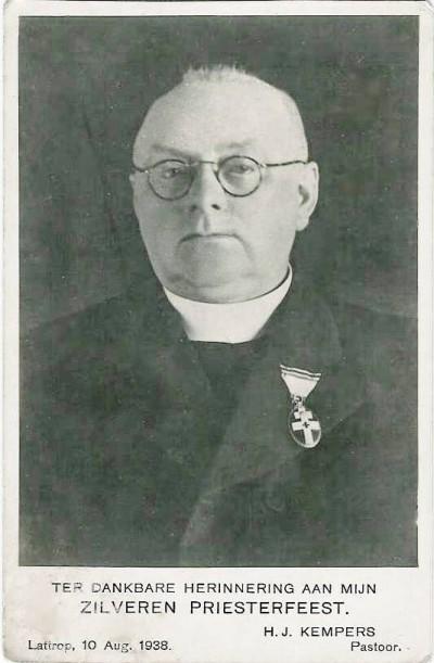 Pastoor HJ Kempers (Zilveren Priesterfeest) Lattrop1938