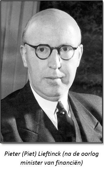 Pieter (Piet) Lieftinck (na de oorlog minister van financiën)