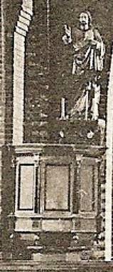 Preekstoel in rk kerk Lattrop