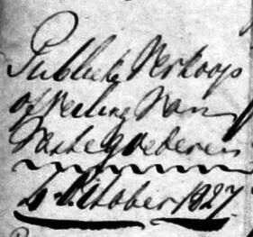 Publieke verkoop erve en goed Wigger Lattrop 4 October 1827