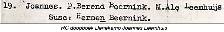 RC doopboek Denekamp Joannes Leemhuijs 19-02-1760