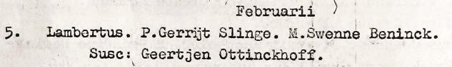 RC doopboek Denekamp Lambertus zv Gerrijt Slinge en Swenne Beninck 05-02-1762