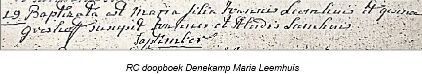 RC doopboek Denekamp Maria Leemhuijs 19-08-1791