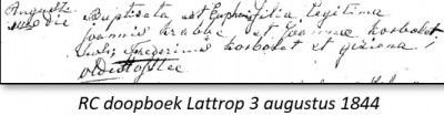 RC doopboek Lattrop 3 augustus 1844