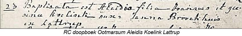 RC doopboek Ootmarssum Aleidis Koelink Lattrup 23-08-1764
