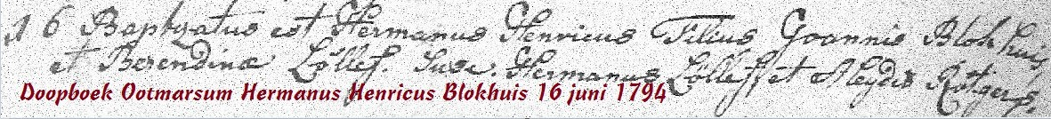 RC doopboek Ootmarssum Hermanus Henricus Blokhuis 16 juni 1794