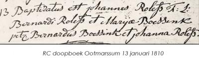 RC doopboek Ootmarssum Johannes Rolefs 13 januari 1810