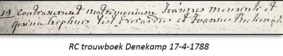 RC trouwboek Denekamp 17-4-1788