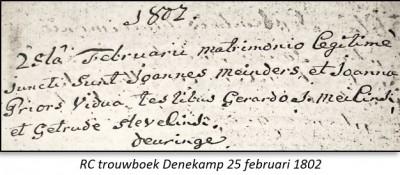 RC trouwboek Denekamp 25 februari 1802