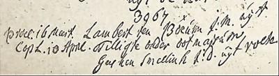 RC trouwboek Ootmarsum 1732 Lambert ten Bokúm en Geesken Smellink