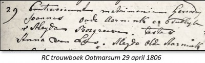 RC trouwboek Ootmarsum 29 april 1806