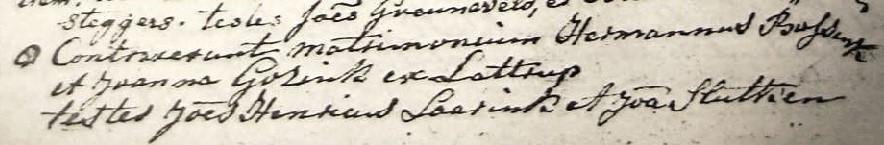 RC trouwboek Ootmarsum Hermannus Bossink en Joanna Gosink 08-05-1785