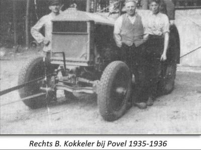 Rechts B. Kokkeler rechts bij Povel  1935-1936