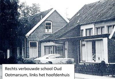 Rechts verbouwde school Oud Ootmarsum, links het hoofdenhuis (foto BMS Ootmarsum)