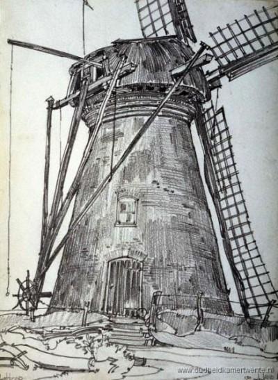 Reerink molen in Lattrop, later Vennegoor en Brunninkhuis