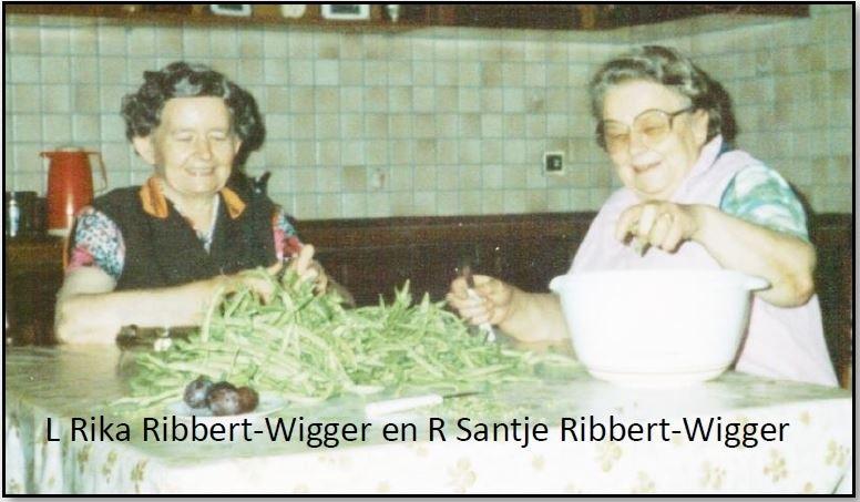 Rika Ribbert-Wigger en Santje Ribbert-Wigger