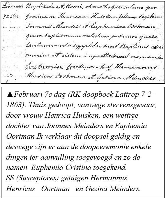 RK doopboek Lattrop 7-2-1863 Euphemia Christina Meinders