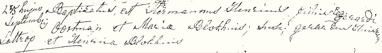 RK doopboek Lattrop Hermannus Henricus Oortman 25-09-1832