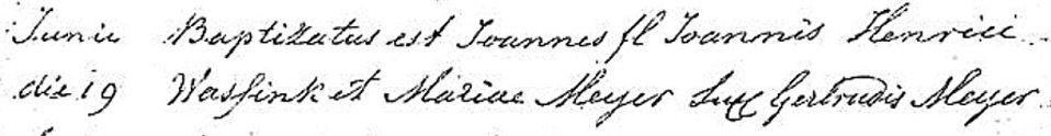 RK Doopboek Lattrop Joannes Wassink 9 juni 1863
