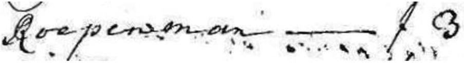 Roepenman Hoofdgeldregister 1723