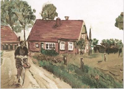 Boerderij in den Toeslag met op de fiets Dika Pikkemaat-Reerink Lattrop