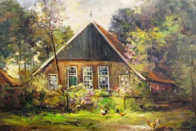 Het Busschershuis op het Carspel in Tilligte anno ca. 1920