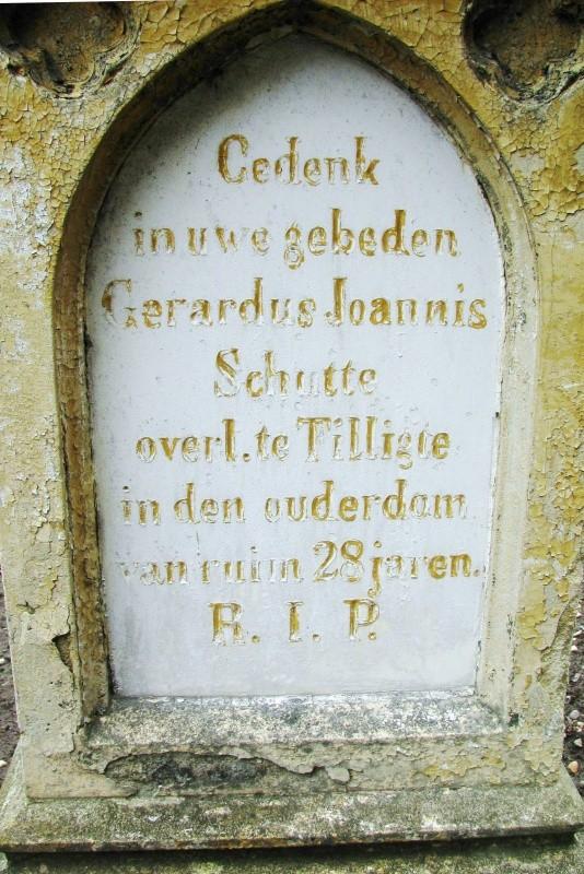 Grafsteen Gerardus Joannis Schutte 1864-1892…