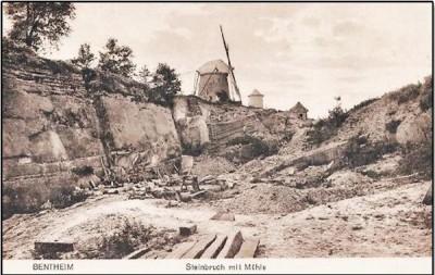 Steinbruch mit Mühle in Bentheim