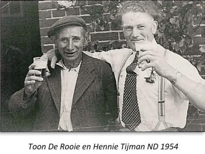 Toon De Rooie en Hennie Tijman ND 1954