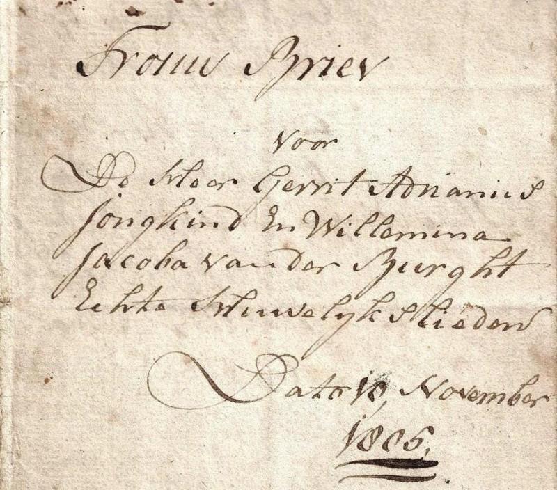 Trouwbrief G.A. Jongkind 1805