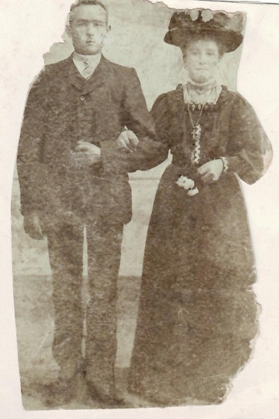 Trouwfoto Johan ten Dam en Suzanna Arens 1911