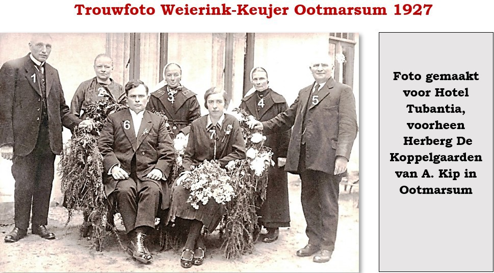 Trouwfoto Weierink-Keujer Ootmarsum 1927