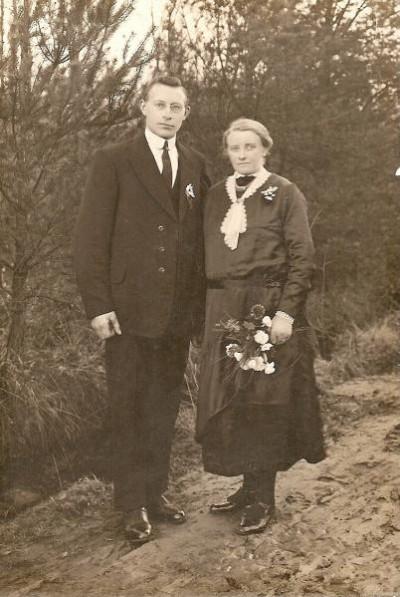 Trouwfoto Gerard Niehoff en Hanna Busscher 1930