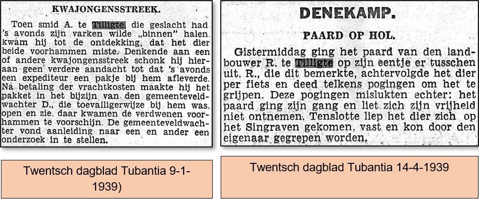 Uit de krant van 1939