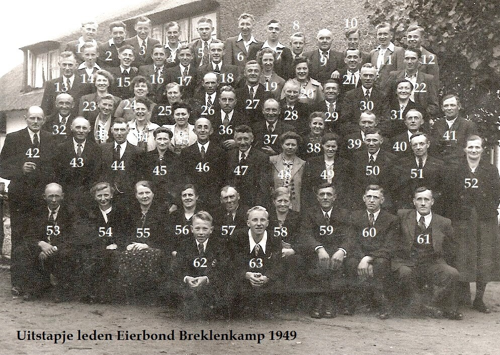 Uitstapje Eierbond Breklenkamp 1949