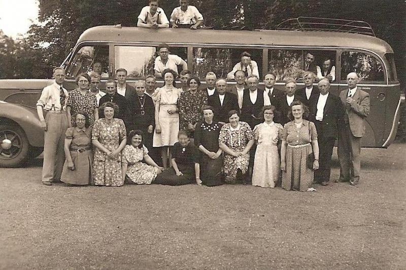 Uitstapje zangkoor Lattrop naar Emmen 1947